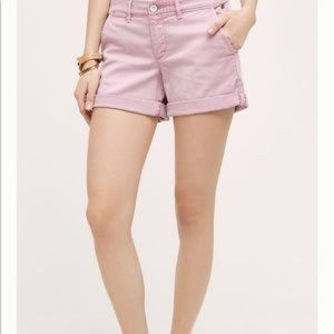 Pilcro Anthropologie Hyphen Lavender Chino Shorts